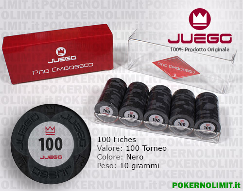 Juego - 100 Fiches Pro Embossed valore 100 - fiches real clay