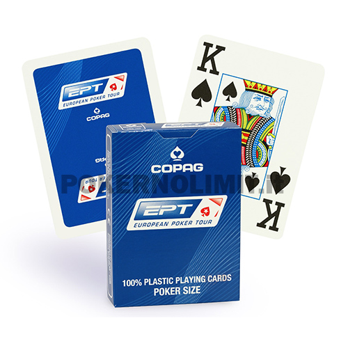 Carte Copag EPT Jumbo Index - 100% Plastica Dorso Blu - carte poker