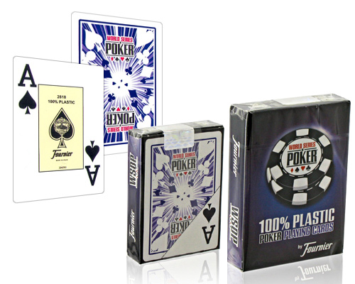 accessori di poker - carte fournier wsop poker playing cards dorso blu