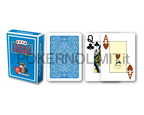 accessori di poker - carte modiano poker texas hold em azzurro 100 plastica