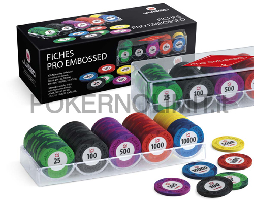 Juego - 100 Fiches Pro Embossed - fiches real clay