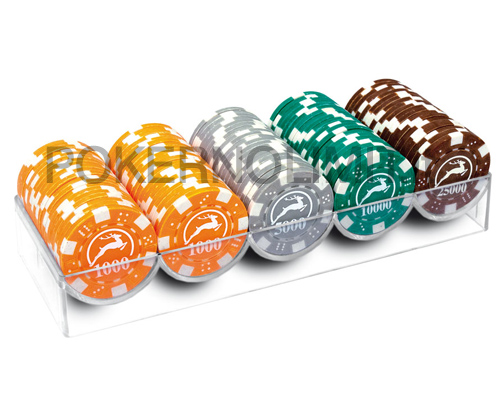 accessori di poker - modiano 100 fiches poker dice valori alti 14 gr