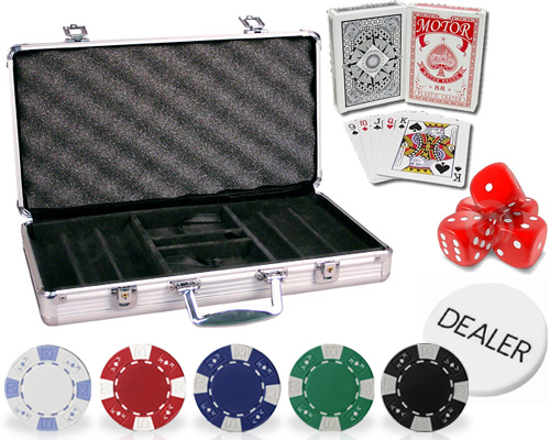 accessori di poker - set fiches 300 chips ak design valigetta alluminio