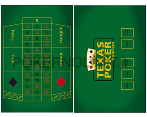 Accessori poker e giochi tappeto double face poker e - Tavolo da texas hold em ...