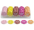 "accessori per il poker - Juego - 100 Fiches Cash 14 gr. ""Conf. A"""