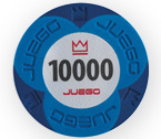 accessori per il poker - Juego - 100 Fiches Pro Embossed val. 10000 e 25000