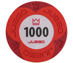 accessori per il poker - Juego - 100 Fiches Pro Embossed valore 1000