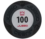 accessori per il poker - Juego - 100 Fiches Pro Embossed valore 100