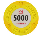 poker - Juego - 100 Fiches Pro Embossed valore 5000