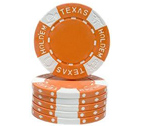 Fiches Texas Hold 'em Arancio - Blister 25 Chips Poker 11.5 gr.