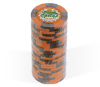 Fiches 3 color Joker Casinò arancio - Blister 25 Chips 10 gr.