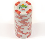 Fiches 3 color Joker Casinò bianco - Blister 25 Chips 10 gr.