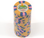 Fiches 3 color Joker Casinò giallo - Blister 25 Chips 10 gr.