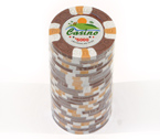 Fiches 3 color Joker Casinò marrone - Blister 25 Chips 10 gr.