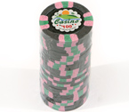 Fiches 3 color Joker Casinò nero - Blister 25 Chips 10 gr.