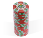 Fiches 3 color Joker Casinò rosso - Blister 25 Chips 10 gr.
