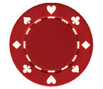Fiches Suited Rosse - Blister 25 Chips Poker 11.5 gr.