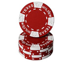Fiches Texas Hold 'em Rosso - Blister 25 Chips Poker 11.5 gr.