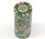 Fiches 3 color Joker Casinò verde - Blister 25 Chips 10 gr.