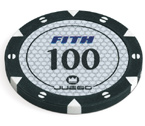 accessori per il poker - 100 Fiches Tournament 14 gr. Black 100 FITH