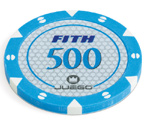 accessori per il poker - 100 Fiches Tournament 14 gr. Blue 500 FITH