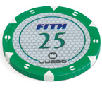 accessori per il poker - 100 Fiches Tournament 14 gr. Green 25 FITH