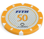 accessori per il poker - 100 Fiches Tournament 14 gr. Orange 50 FITH