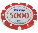 accessori per il poker - 100 Fiches Tournament 14 gr. Red 5000 FITH
