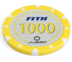 accessori per il poker - 100 Fiches Tournament 14 gr. Yellow 1000 FITH