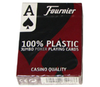 accessori per il poker - Carte Fournier 2800 Texas Hold 'Em - 100% plastica (nere)