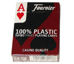 accessori per il poker - Carte Fournier 2800 Texas Hold 'Em - 100% plastica (rosse)