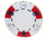 Crown and Dice 3 Colour - 25 Clay Poker Fiches (Biaco)
