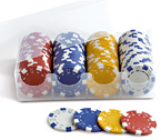 "accessori per il poker - Juego - 100 fiches Dice + Tray 11,5 gr. ""conf. B"""