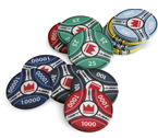accessori per il poker - Juego - 100 Fiches in ceramica