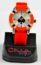 ChipWatch - Orologio poker Arancione