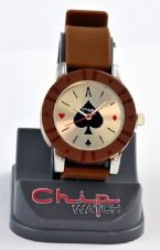 ChipWatch - Orologio poker Marrone