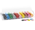 accessori per il poker - Set Acrilico 490 Fiches Cash 11,5 gr. Clay - Juego