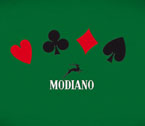 Tappeto Poker Modiano 4 semi, ricamato