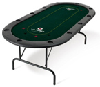 accessori per il poker - Tavolo Poker Texas Hold'em Juego 240x140 Verde